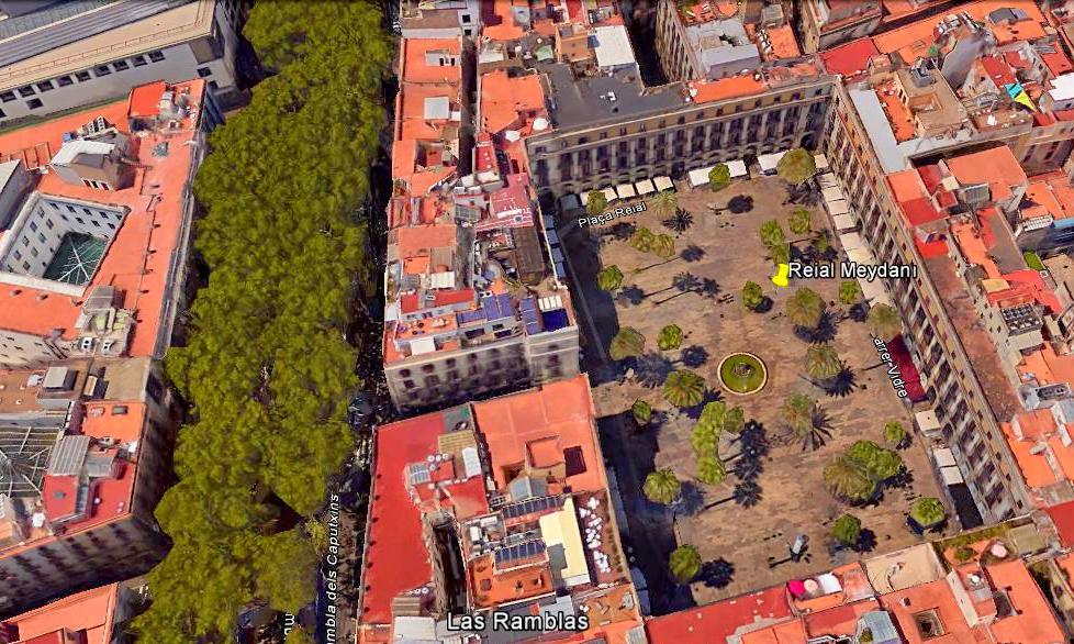 Barselona Barri Gotic Reial Meydanı