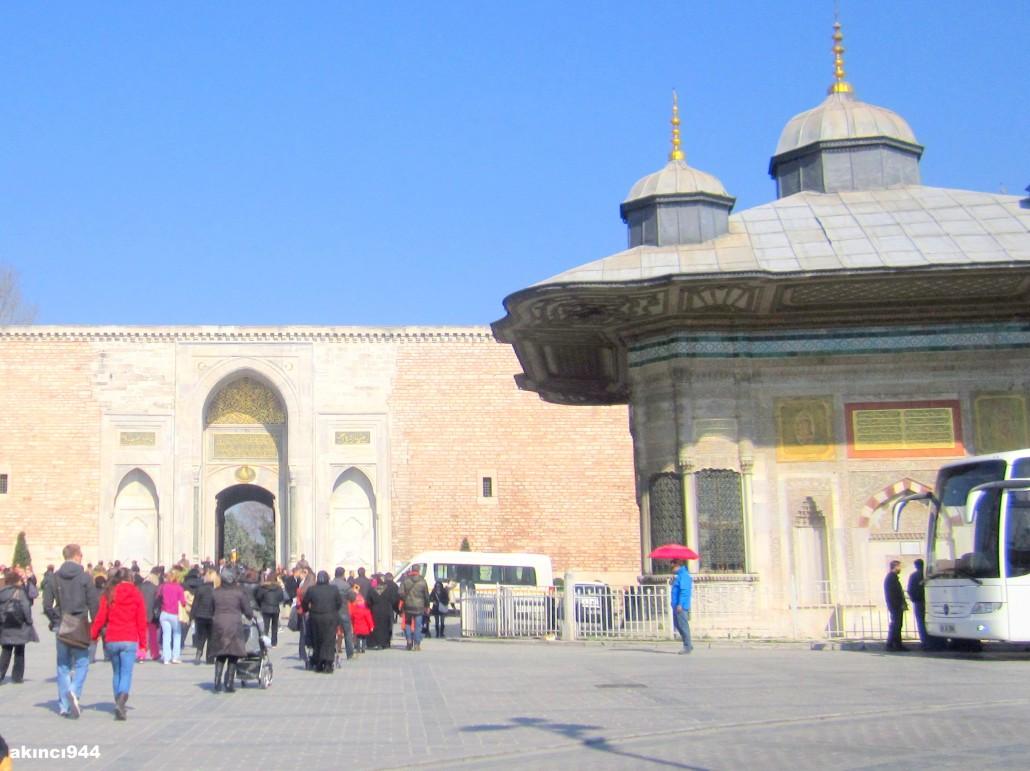 Topkapı Sarayı İstanbul (III. Ahmet Çeşmesi)