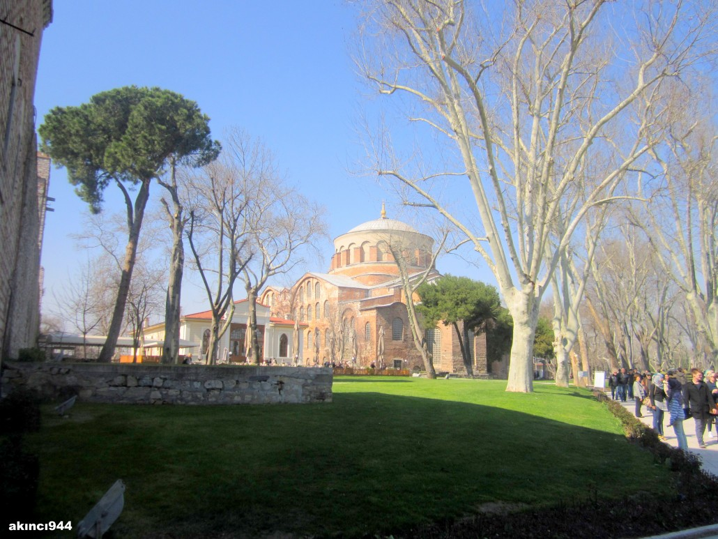 Topkapı Sarayı Alay Meydanı ve Aya İrini Kilisesi