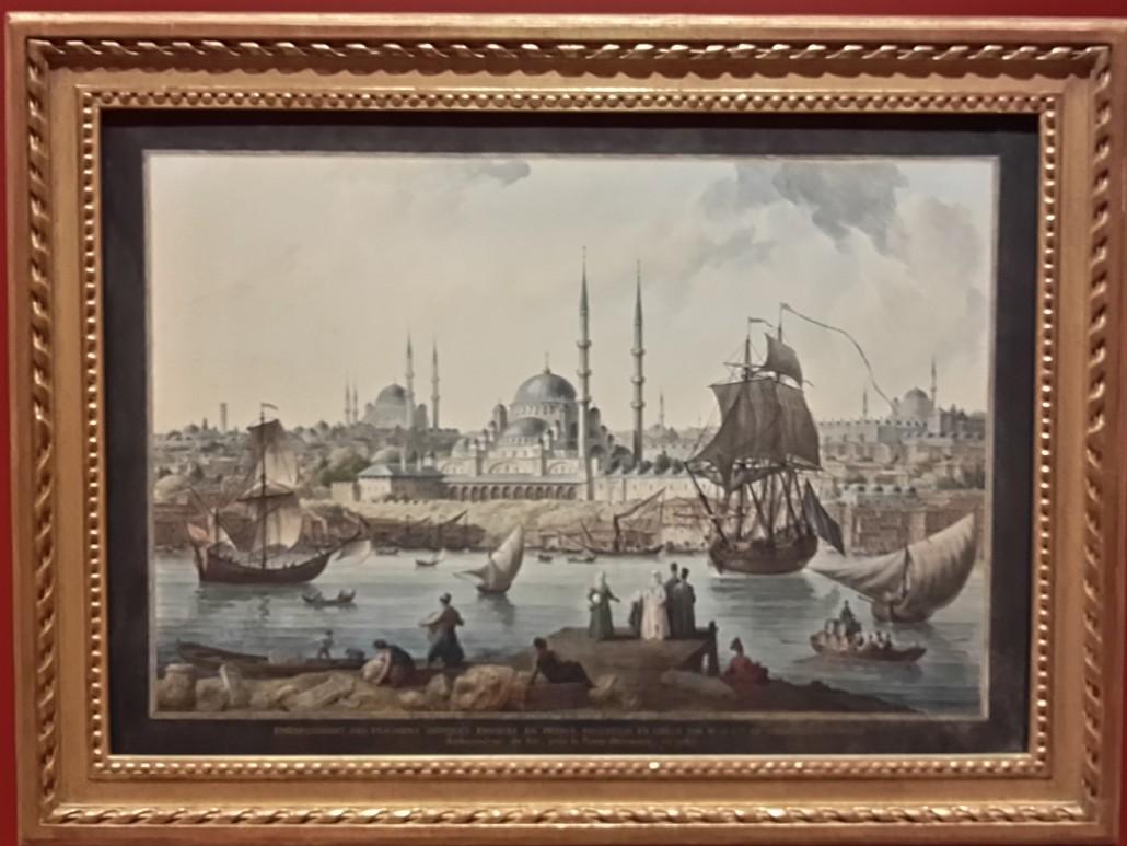 Pera Müzesi-Yeni Cami ve İstanbul Limanı (Jean-Baptiste Hilair)