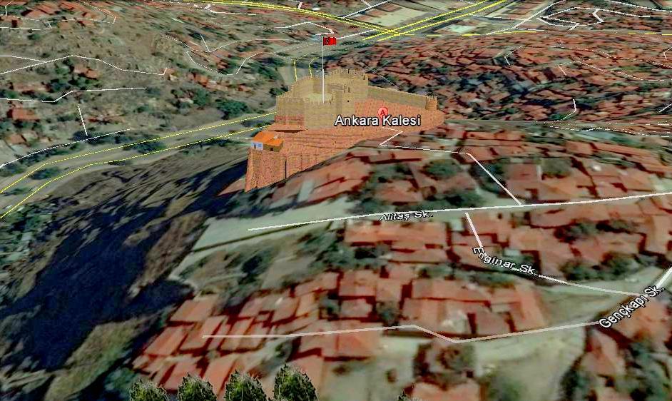 Ankara Kalesi Google Earth