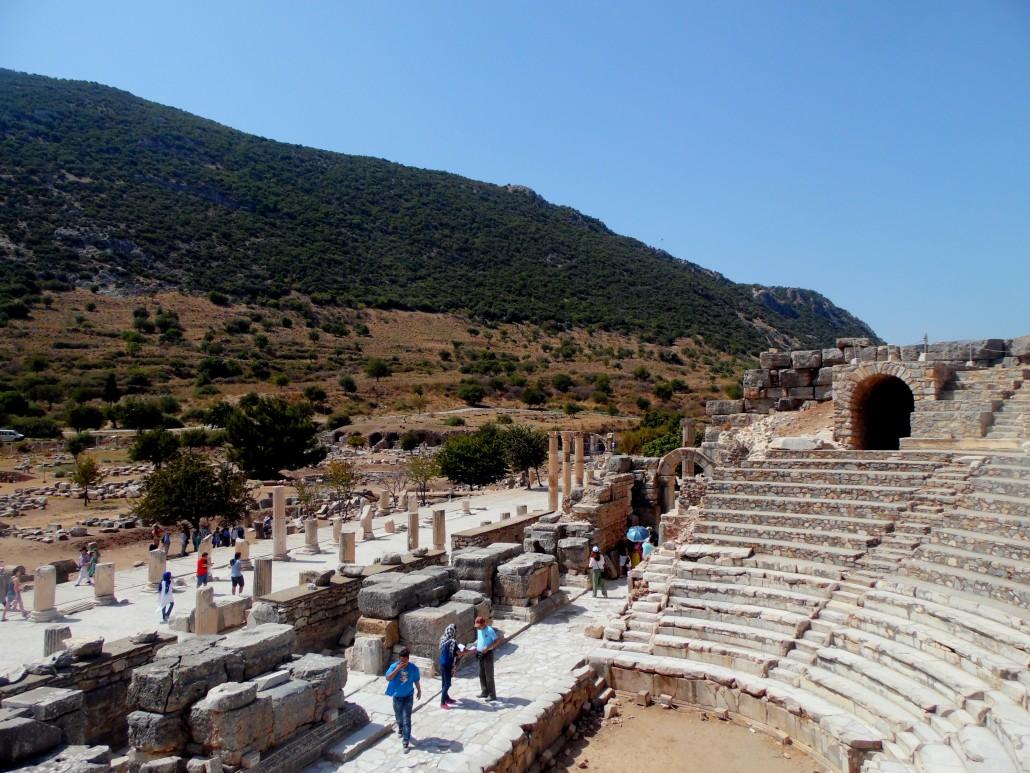 Efes Antik Kenti Odeon ve Devlet Agorası