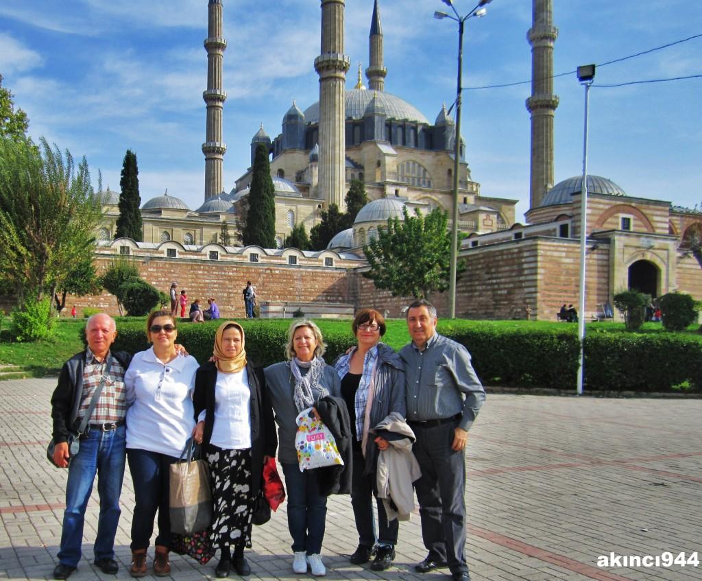 Selimiye camii ve grubumuz