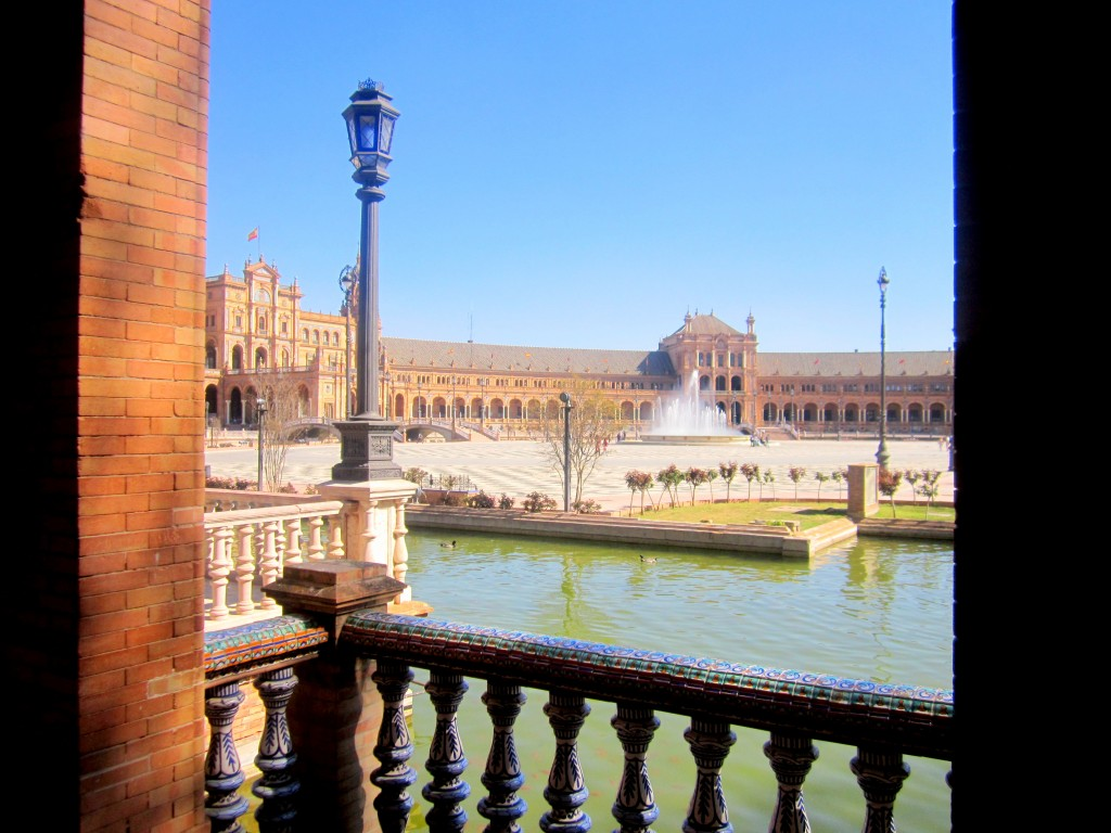 İspanya Meydanı Sevilla Endülüs İspanya