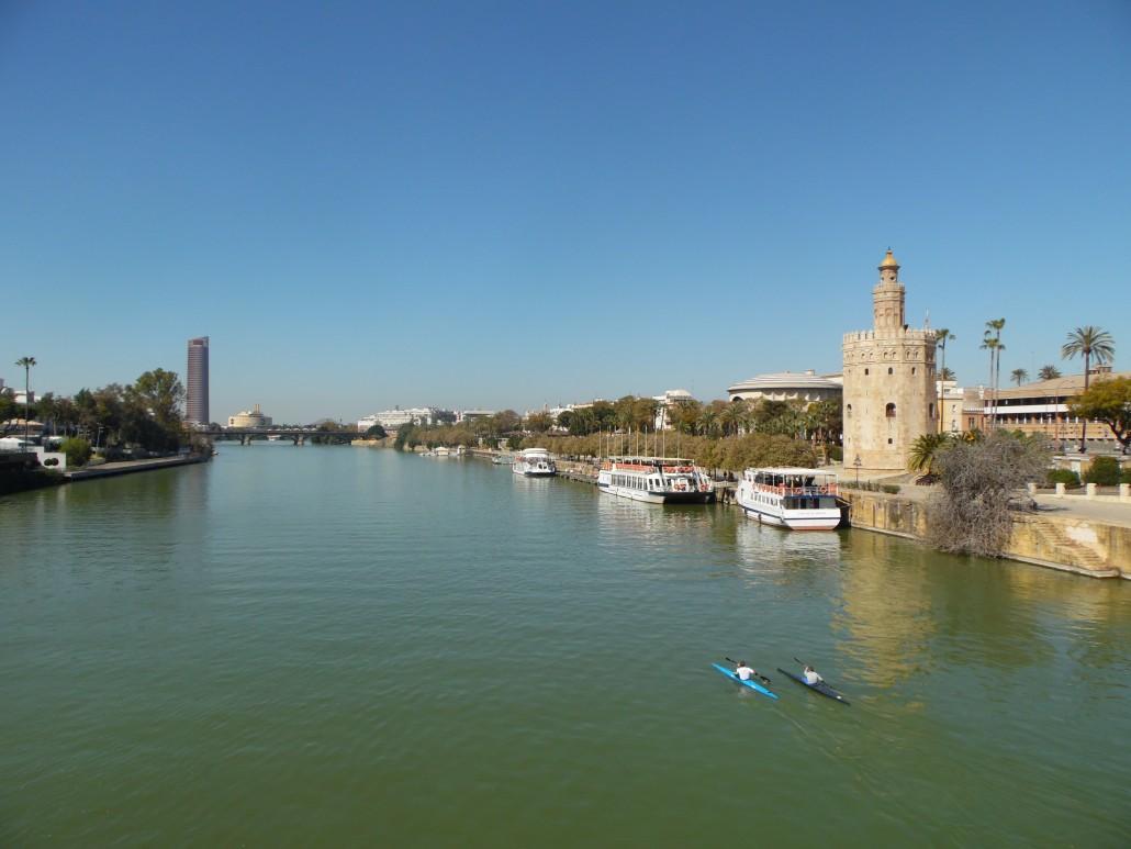 Guadalquivir Nehri Sevilla Endülüs