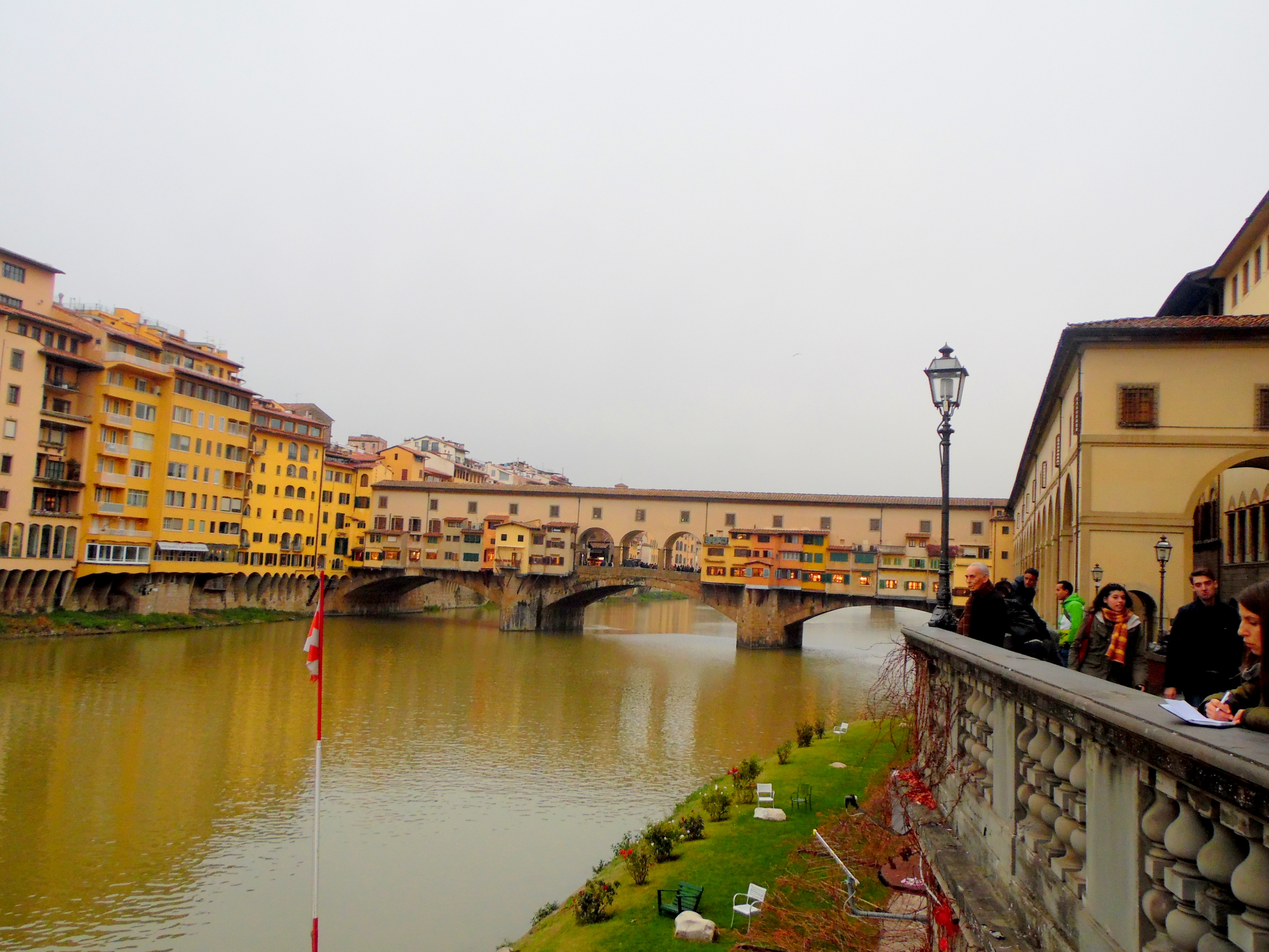 Vasari Koridoru ve Vecchio Köprüsü Floransa
