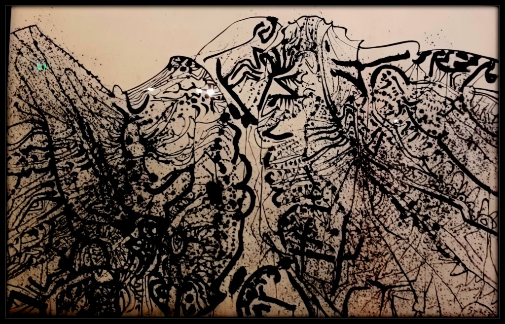 Alpilles: Arches kağıdı üzerine Hint mürekkebi