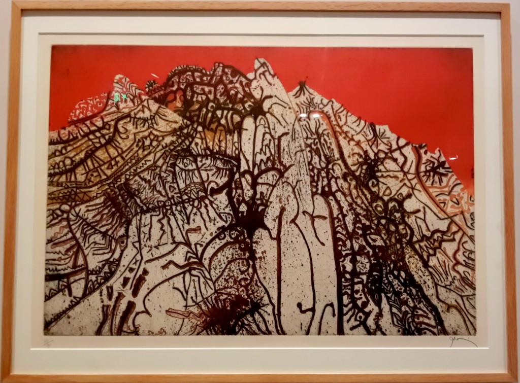 Kırmızı Alpilles: Bakır üzerine akuatint, aside yedirme baskı ve kazıma
