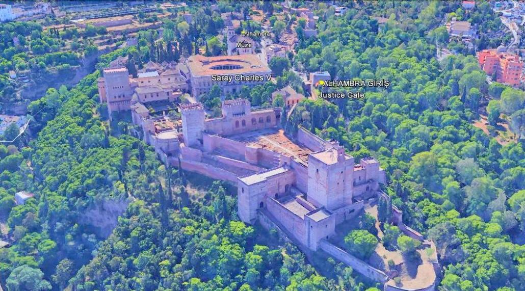 Alhambra Google Earth